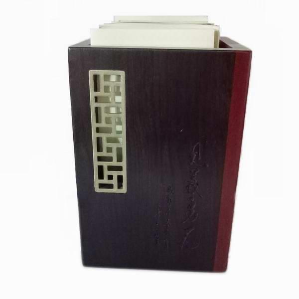 红木笔筒 办公室装饰摆件 描银酸枝笔筒 红木文化礼品定制