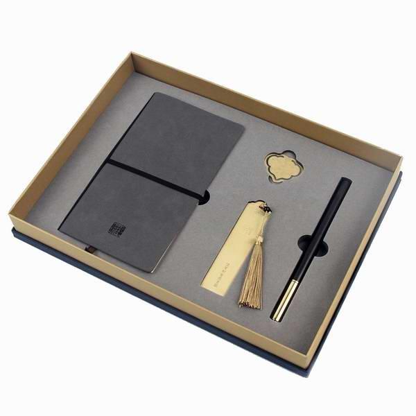 红木签字笔金属书签记事本套装 创意礼品 定制员工福利礼物
