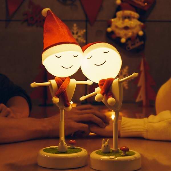 怡佳小夜灯礼品定制 创意圣诞礼品蓝牙音响USB充电儿童台灯稻草人系列