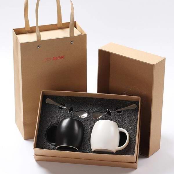 哈乐陶瓷杯礼品定制 商务茶具套装 企业新年送客户礼品